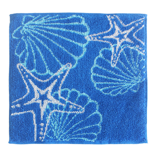 Custom Made 25x25CM Sqaure Cotton Velour Face Towel