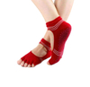 Custom Cotton Women Open Toe Yoga Grip Socks