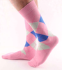 Custom Argyle Men Cotton Crew Socks