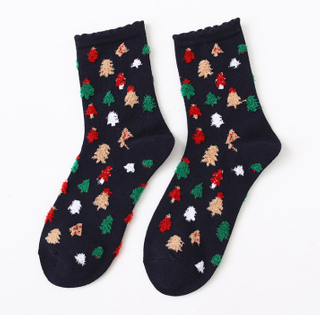 Custom Ankle Women Cotton Christmas Pattern Socks