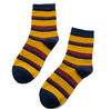 Custom Stripe Women Cotton Glitter Sparkle Socks