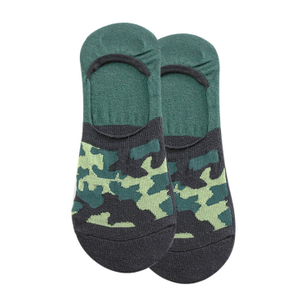 Custom Thin Camouflage Men Cotton Invisible Boat Socks