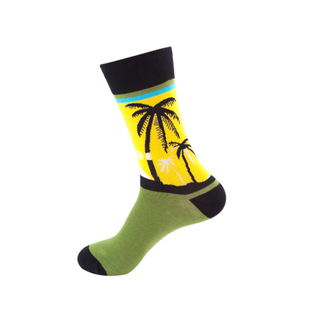 Custom Novelty Men Happy Color Cotton Crew Socks