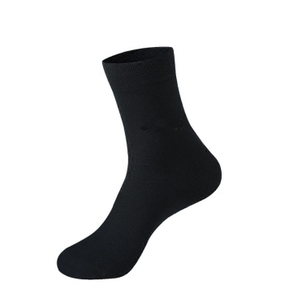 Customized Black Men Cotton Business Socks