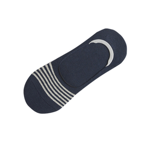 Custom Navy Cotton Men Invisible Boat Socks