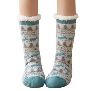 Custom Arylic Women Winter Warm Thick Socks