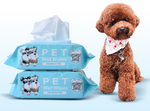 Antiseptic Non-Woven Bamboo Disposable Pet Wipes for Puppies
